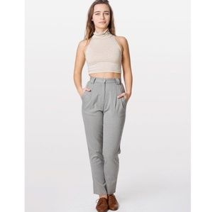 American Apparel High Waisted Twill Pant